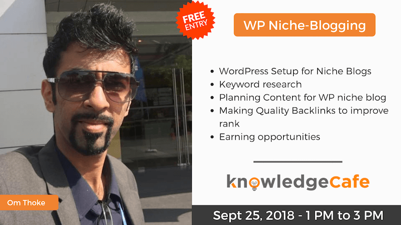 niche blogging workshop free
